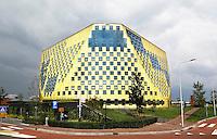Nederland Hardenberg 2015 08 15. Het Gemeentehuis. Het gebouw is ontworpen door De Architekten Cie