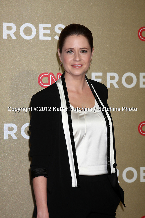 LOS ANGELES - DEC 2:  Jenna Fischer arrives to the 2012 CNN Heroes Awards at Shrine Auditorium on December 2, 2012 in Los Angeles, CA