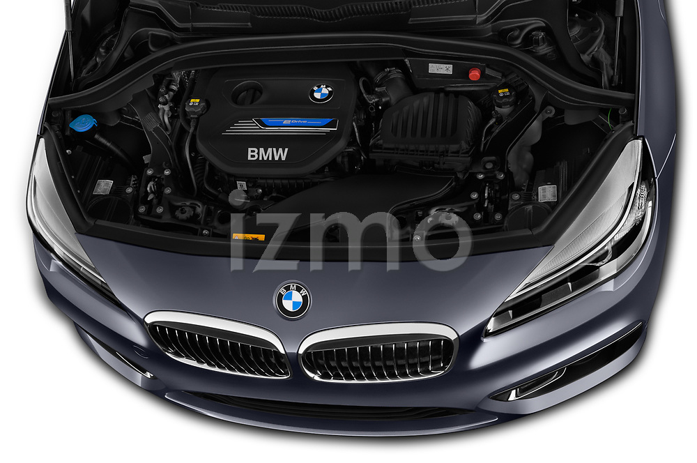 Car Stock 2017 BMW 2-Series-Active-Tourer Luxury 5 Door Mini MPV Engine  high angle detail view