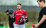 ALMERE - Hockey - Hoofdklasse competitie heren. ALMERE-HGC (0-1) . Keeper Youri Beck (Almere)   Pasha Gademan (Almere)  COPYRIGHT KOEN SUYK