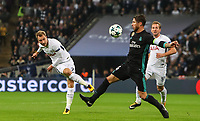 Christian Eriksen of Tottenham Hotspur sees his shot blocked by Sergio Ramos of Real Madrid during the UEFA Champions League Group H match between Tottenham Hotspur and Real Madrid at Wembley Stadium on November 1st 2017 in London, England. Foto Phc / Panoramic / Insidefoto