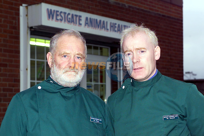 Colin Healy and John Russell from Westgate Vetinary Clinic..Picture Fran Caffrey Newsfile.