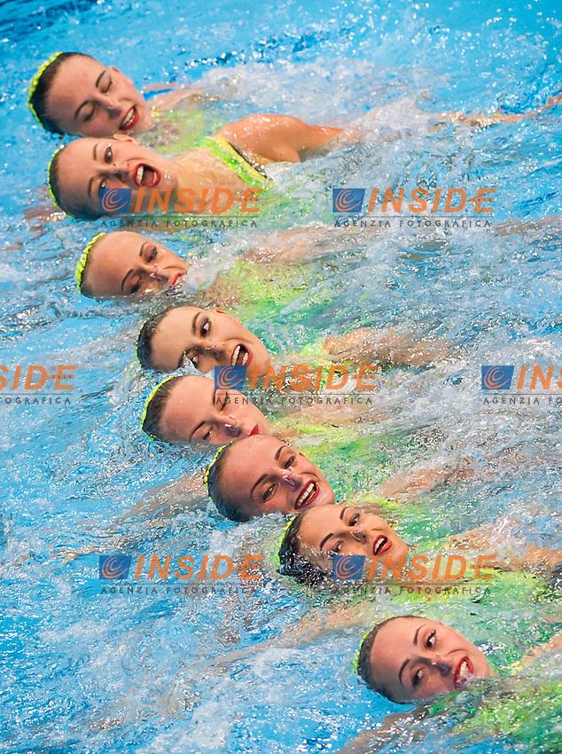 Team UKRAINE silver medal<br /> London, Queen Elizabeth II Olympic Park Pool <br /> LEN 2016 European Aquatics Elite Championships <br /> Synchro<br /> Team technical final <br /> Day 01 09-05-2016<br /> Photo Giorgio Perottino/Deepbluemedia/Insidefoto