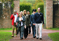 Pictured: Prince Edward with HM Lord Lieutenant of Dyfed Sara Edwards<br />