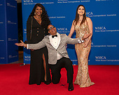 Ski Johnson, center, arrives for the 2019 White House Correspondents Association Annual Dinner at the Washington Hilton Hotel on Saturday, April 27, 2019.<br /> Credit: Ron Sachs / CNP<br /> <br /> (RESTRICTION: NO New York or New Jersey Newspapers or newspapers within a 75 mile radius of New York City)