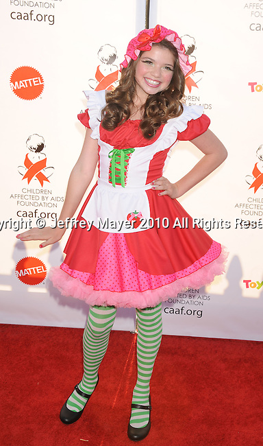 SANTA MONICA, CA. - October 30: Jadin Gould arrives at the 17th Annual Dream Halloween CAAF Benefit at Barker Hangar on October 30, 2010 in Santa Monica, California.