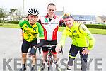 Francisco Silbestre (Killorglin), Bernard Murphy (Faha Cycling Club) and Brian Sheehan (Killorglin) attending the cycle in the Ardfert NS on Sunday morning.