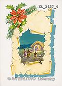 Interlitho, CHRISTMAS SANTA, SNOWMAN, nostalgic, paintings, poinsettia(KL2457/4,#X#) Weihnachten, nostalgisch, Navidad, nostálgico, illustrations, pinturas
