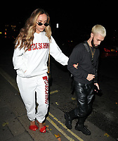 Jade Thirlwall and guest at the H&amp;M x Moschino collection launch party, Annabel's, Berkeley Square, London, England, UK, on Tuesday 06 November 2018.<br /> CAP/CAN<br /> &copy;CAN/Capital Pictures
