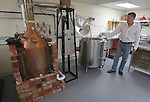 Mastermind Vodka is made in this room - at left is the copper still, and other equipment used in the production of their proprietary blend of vodka.