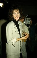 Montreal (Qc) CANADA - File Photo -Circa 1987 - Celine Dion  at Musique PLus<br /> <br /> <br /> -Photo (c)  Images Distribution