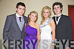 LOOKING GOOD: Students James Crean, Shannon O'Grady, Shauna Finn and Michael Hennessy from Mean Scoil an Leith Triuigh, Castlegregory were looking good as they prepared to go to their Debs in the Abbeygate Hotel on Friday night.