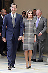 King Felipe VI of Spain, Queen Letizia of Spain and King Juan Carlos I of Spain during the National Sports Awards 2014. November 17, 2015.(ALTERPHOTOS/Acero)