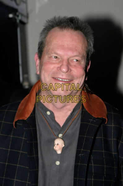 TERRY GILLIAM.The British Independent Film Awards at Hammersmith Palais, London, UK..November 30th, 2005.Ref: AH.headshot portrait doll head toy necklace.www.capitalpictures.com.sales@capitalpictures.com.©Capital Pictures