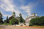 The Blaine House and Maine State House, Augusta, Maine, USA