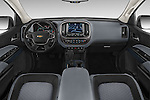 Stock photo of straight dashboard view of a 2015 Chevrolet Colorado Z71 Crew Cab 4 Door Pick Up Dashboard