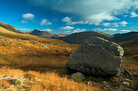 Ben Lomond and the Narnain Boulders beneath The Cobbler, the Arrochar Alps, Loch Lomond and the Trossachs National Park, Argyll & Bute