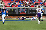 East Carolina Pirates wide receiver Tyler Snead (22) in action during the game between the East Caroline Pirates  and the SMU Mustangs at the Gerald J. Ford Stadium in Fort Worth, Texas.