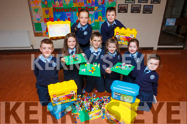 "Pupils from St Oliver's NS Ballylongford are enjoying their new Lego Club. Pictured are: Paulie and Saoirse O'Brien, Cathal Byrne, Lexi Foley, Aoife Griffin and Katie Neville. Back l-r were"" Aisling O'Connor and Christopher Higgins."