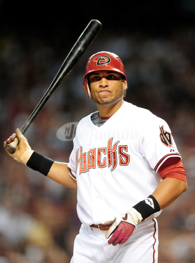 Jul 18, 2008; Phoenix, AZ, USA; Arizona Diamondbacks outfielder Alex Romero against the Los Angeles Dodgers at Chase Field. Mandatory Credit: Mark J. Rebilas-