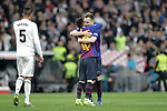 FC Barcelona's Leo Messi and Ivan Rakitic celebrate victory during La Liga match. March 02,2019. (ALTERPHOTOS/Alconada)