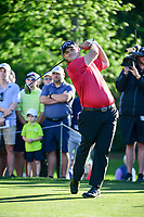 Patrick Reed (USA) watches his tee shot on 11 during round 2 of the Shell Houston Open, Golf Club of Houston, Houston, Texas, USA. 3/31/2017.<br /> Picture: Golffile | Ken Murray<br /> <br /> <br /> All photo usage must carry mandatory copyright credit (&copy; Golffile | Ken Murray)
