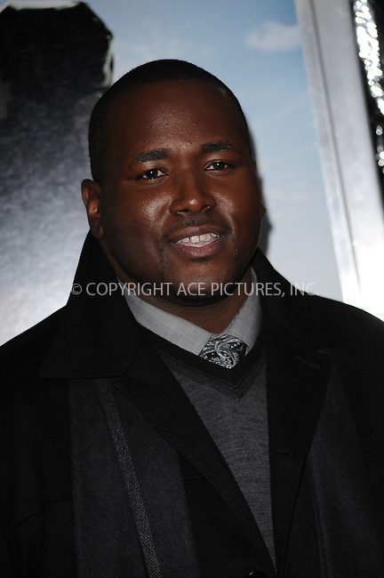 WWW.ACEPIXS.COM . . . . . ....November 17 2009, New York City....Actor Quinton Aaron arriving at the premiere of 'The Blind Side' at the Ziegfeld Theatre on November 17, 2009 in New York City.....Please byline: KRISTIN CALLAHAN - ACEPIXS.COM.. . . . . . ..Ace Pictures, Inc:  ..tel: (212) 243 8787 or (646) 769 0430..e-mail: info@acepixs.com..web: http://www.acepixs.com