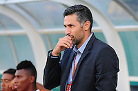 CALI -COLOMBIA-15-MAYO-2016.Mario Alberto Yepes director técnico del Cali durante partido contra  Jaguares FC   durante partido por la fecha 18 de Liga Águila I 2016 jugado en el estadio de Palmaseca./ Mario Alberto Yepes coach  of Cali  during match  against  of Jaguares FC  during the match for the date 18 of the Aguila League I 2016 played at Palmaseca stadium . Photo: VizzorImage / Nelson Rios  / Contribuidor
