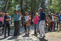 Shubhankar Sharma (IND) shakes hands with fans as he approaches the 3rd tee during round 4 of the World Golf Championships, Mexico, Club De Golf Chapultepec, Mexico City, Mexico. 3/4/2018.<br /> Picture: Golffile | Ken Murray<br /> <br /> <br /> All photo usage must carry mandatory copyright credit (&copy; Golffile | Ken Murray)