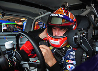 Sept. 20, 2008; Dover, DE, USA; Nascar Sprint Cup Series driver Patrick Carpentier during practice for the Camping World RV 400 at Dover International Speedway. Mandatory Credit: Mark J. Rebilas-