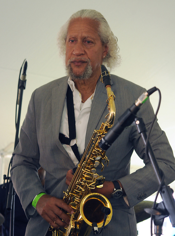 Saxophonist, Gary Bartz, on stage with The Message (an All-Star Band inspired by the legacy of Art Blakey's Jazz Messengers) performing at the 2014 Jazz in the Valley Festival held in Waryas Park on the Hudson River front in Poughkeepsie, NY on Sunday August 17, 2014. Photo by Jim Peppler. Copyright Jim Peppler 2014 all rights reserved.