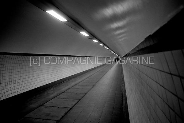 Pedestrian tunnel under the Schelde on Linkeroever in Antwerp (Belgium, 21/02/2004)