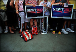 Supporters of former House speaker and Republican presidential candidate Newt Gingrich await his arrival at a campaign stop in Sarasota, Florida, USA, 24 January 2012. Republican candidates will campaign in Florida in the lead up to the Florida Primary on 31 January 2012.