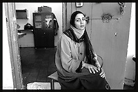 Kaiera Sa'edi, 26, sentenced for 4 live sentences after she drove a Palestinian Suicide bomber, who killed 4 Israelis in Tel Aviv, is seen at Hasharon Prison, February 25, 2004. Photo by Quique Kierszenbaum
