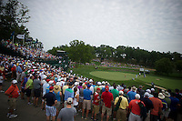 The fans on the 14th follow Tiger Woods during the opening round of the US PGA Championship at Valhalla (Photo: Anthony Powter) Picture: Anthony Powter / www.golffile.ie