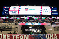 Jacksonville, FL - Thursday, April 05, 2018: Hisense video board during a friendly match between USA and Mexico at EverBank Stadium.  USA defeated Mexico 4-1.