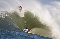 Evan Slater, Darryl Flea Virostko. Mavericks Surf Contest in Half Moon Bay, California on February 13th, 2010.
