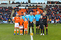Team captains, mascots and officials pose for a picture <br /> <br /> Photographer Alex Dodd/CameraSport<br /> <br /> The EFL Sky Bet League One - Blackpool v Sunderland - Tuesday 1st January 2019 - Bloomfield Road - Blackpool<br /> <br /> World Copyright © 2019 CameraSport. All rights reserved. 43 Linden Ave. Countesthorpe. Leicester. England. LE8 5PG - Tel: +44 (0) 116 277 4147 - admin@camerasport.com - www.camerasport.com
