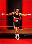 1997. Lucia Rijker. Boksen. vrouw. Wereld kampioen. USA. Bhoediste. aktie
