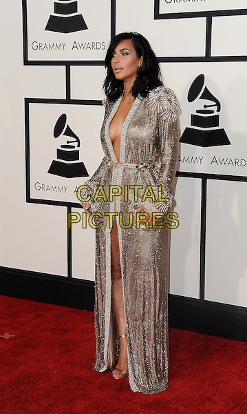 LOS ANGELES, CA - FEBRUARY 8: Kim Kardashian arrives at the 57th Annual Grammy Awards at Staples Center on February 8, 2015 in Los Angeles, California. <br /> CAP/MPI/SKPG<br /> &copy;SKPG/MPI/Capital Pictures