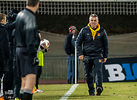 COLLEGE PARK, MD - NOVEMBER 15: Coach Sasho Cirovski of Maryland argues a call during a game between Indiana University and University of Maryland at Ludwig Field on November 15, 2019 in College Park, Maryland.