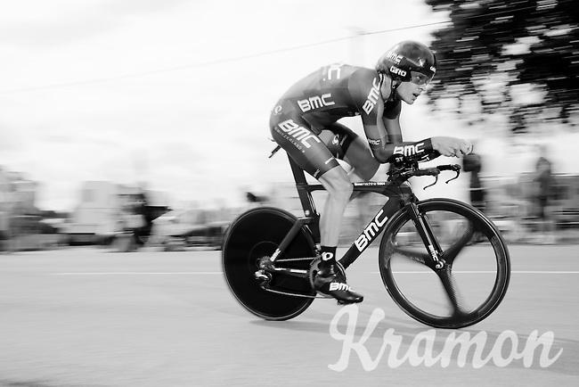 Daniel Oss (ITA/BMC) on his Time Machine<br /> <br /> stage 9: TTT Vannes - Plumelec (28km)<br /> 2015 Tour de France