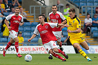 Fleetwood Town's Jason Holt gets away from Oxford United's Josh Ruffels<br /> <br /> Photographer David Shipman/CameraSport<br /> <br /> The EFL Sky Bet League One - Oxford United v Fleetwood Town - Saturday August 11th 2018 - Kassam Stadium - Oxford<br /> <br /> World Copyright &copy; 2018 CameraSport. All rights reserved. 43 Linden Ave. Countesthorpe. Leicester. England. LE8 5PG - Tel: +44 (0) 116 277 4147 - admin@camerasport.com - www.camerasport.com