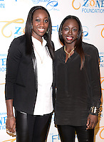 NEW YORK, NY - MAY 6, 2014: WNBA' Tina Charles and Essence Carson attend the Tyra Banks'  Flawsome Ball 2014 , at Cipriani Wall Street ,May 6 , 2014 in New York City  HP/StarlitePics