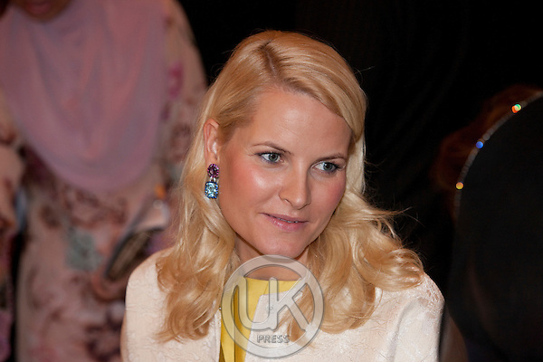 Crown Prince Haakon, and Crown Princess Mette Marit of Norway, 3 Day visit to Malaysia,.attend a Seafood Buffet return arrangement in The Grand Ballroom at The Mandarin Oriental Hotel in Kuala Lumpur, Malaysia