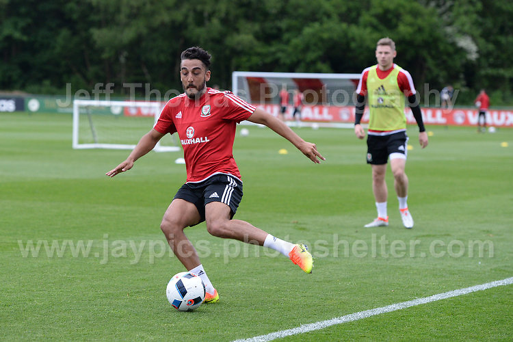 The Welsh players take part in the practise session during the Wales Open Training Session on Wednesday 1st June 2016 at the Vale Resort, in the Vale of Glamorgan. <br /> <br /> <br /> Jeff Thomas Photography -  www.jaypics.photoshelter.com - <br /> e-mail swansea1001@hotmail.co.uk -<br /> Mob: 07837 386244 -