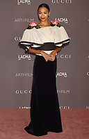 LOS ANGELES, CA - NOVEMBER 04: Actor Zoe Saldana attends the 2017 LACMA Art + Film Gala Honoring Mark Bradford and George Lucas presented by Gucci at LACMA on November 4, 2017 in Los Angeles, California.<br /> CAP/ROT/TM<br /> &copy;TM/ROT/Capital Pictures