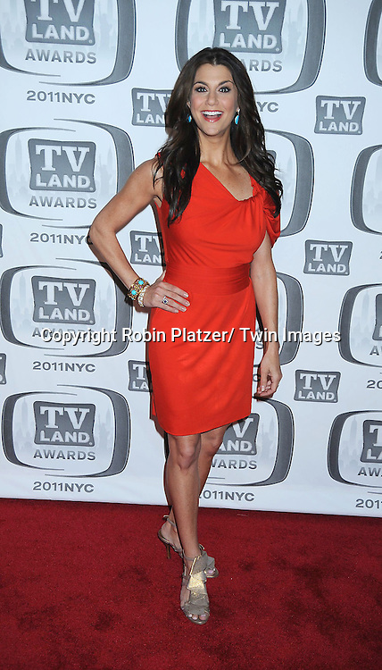Samantha Harris in Trina Turk red dress attending The TV Land Awards 2011 .on April 10, 2011 at the Jacob Javits Center in New York City.