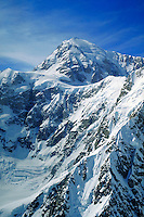 Aerial view of mountains, Denali National Park. Alaska United States Denali National Park.