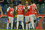 Independiente Santa Fe venció 3-0 a América. Partido aplazado de la fecha 3 Liga Águila I-2018.